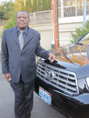 Ben Kangwa, a Zambian diplomat, drives around in a State Department-licensed Toyota.