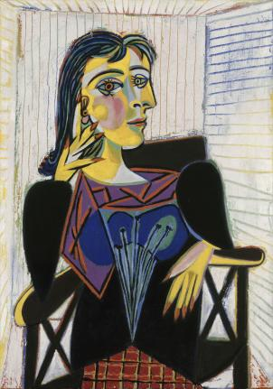 Portrait of Dora Maar, 1937, Pablo Picasso (Spanish, 1881–1973) oil on canvas, 36¼ x 25 9/16 in. (92 x 65 cm) Musée National Picasso, Paris ©2010 Estate of Pablo Picasso / Artist Rights Society (ARS), New York.
