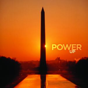 A poster of the Washington Monument used for tourism purposes.