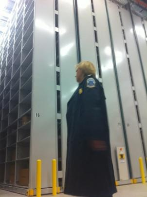 Police Chief Cathy Lanier inside the state-of-the-art evidence warehouse in Southwest D.C.
