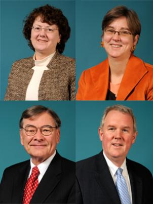 New Metro board members, clockwise, beginning in the upper left: Kathy Porter, Mary Hynes, Tommy Wells and Tom Downs. More new members have are awaiting confirmation.