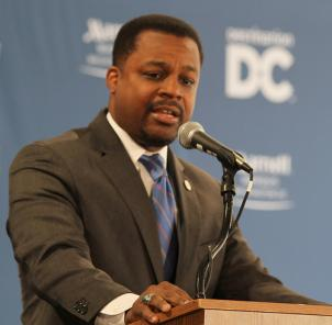 """D.C. Council Chair Kwame Brown says Thomas needs to """"seriously consider what's best for his family and constituents."""""""