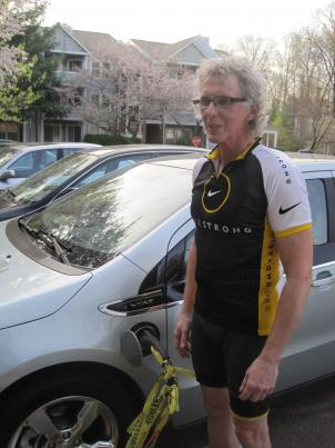 Ron Ball loves his new Chevy Volt, but he's had trouble finding a place to charge it.