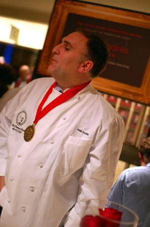 D.C. Chef José Andrés thanked his wife and his mentor, Ferran Adriá, in his acceptance speach at the May 9 James Beard Foundation Awards. He's been nominated for Outstanding Chef four times.