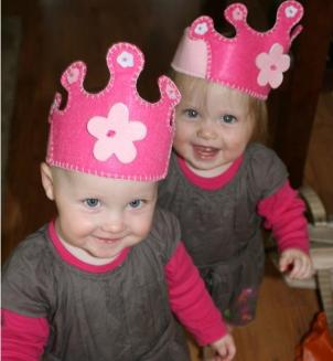 Ella and Sophia are 14-month-old fraternal twins.