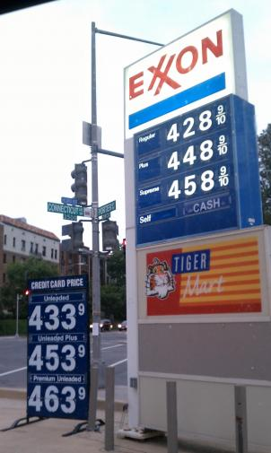 Drivers have reported a large spike in gas prices at a number of stations in the D.C. Metro area.