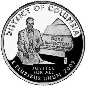 The U.S. Mint unveils the new D.C. quarter.