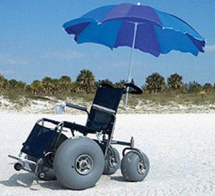 A beach wheelchair in Ocean City.