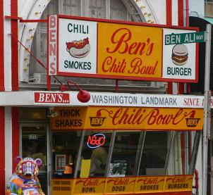 Half-smokes from Ben's Chili Bowl is a favorite among Washingtonians and out-of-towners alike.