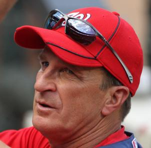 Nationals manager Jim Riggleman at a game in May.