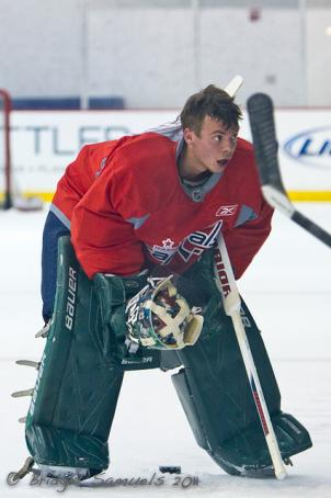 Steffen Soberg during Capitals rookie camp at Kettler Iceplex July 11.