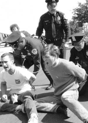1990 - Act Up protest in front of the Health and Human Service Building in D.C.