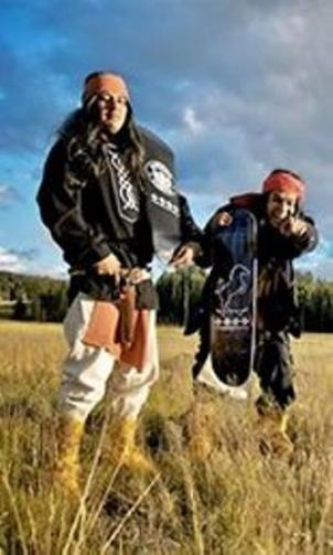 "The National Museum of the American Indian presents ""Ramp It Up"" through November 1st.  The exhibit includes photos of the members of the 4 Wheel Warpony skate team (White Mountain Apache)."
