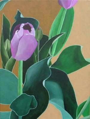 """Petals and Leaves,Blossoms and Greens"" is on display at Gallery West through October 4th."