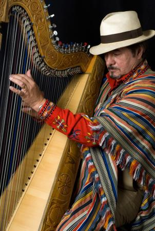 """Arpas de Americas"" brings Celso Duarte of Paraguay together with other southern harpists September 11th and 12th."