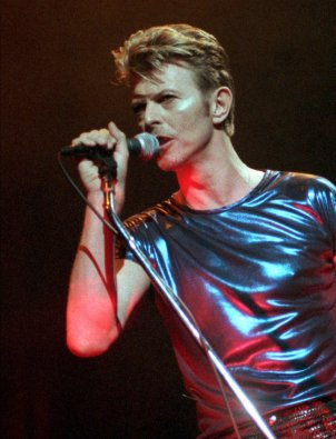 David Bowie performing in Hartford, Conn., in 1995. Bowie died Sunday after battling cancer for 18 months.