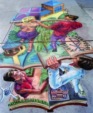 Who said playing with chalk was an activity exclusive to children? Artists of all ages can create their own masterpiece this weekend at Reston's Chalk on the Water Festival.