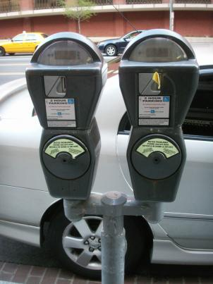 Parking meters for handicapped drivers  in Washington D.C.