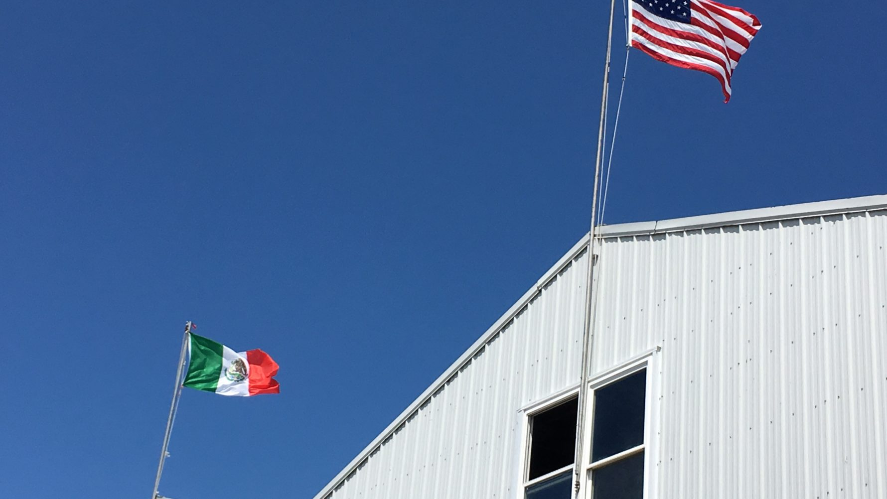 why a mexican flag flies high in a trump county wamu