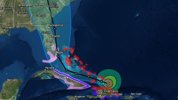 Hurricane Irma Aims At Bahamas With 175-MPH Winds; Risk ... on bahama bay resort map, map of key west fl, bahama map showing the s, bahama s florida map,