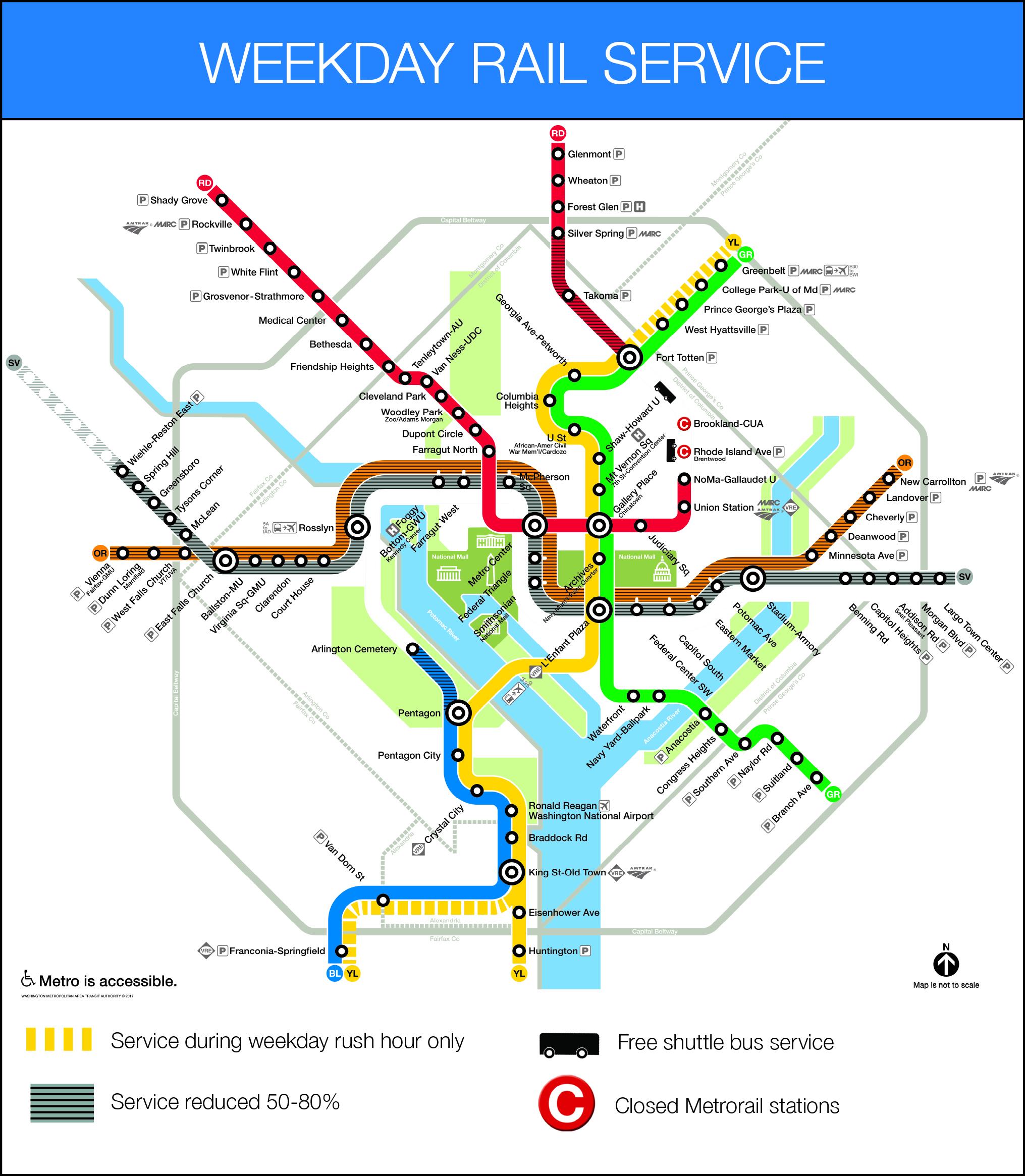 Washington Dc Subway Map Silver Line.Metro Tells Riders Don T Use Rail During Blue Orange Silver Line