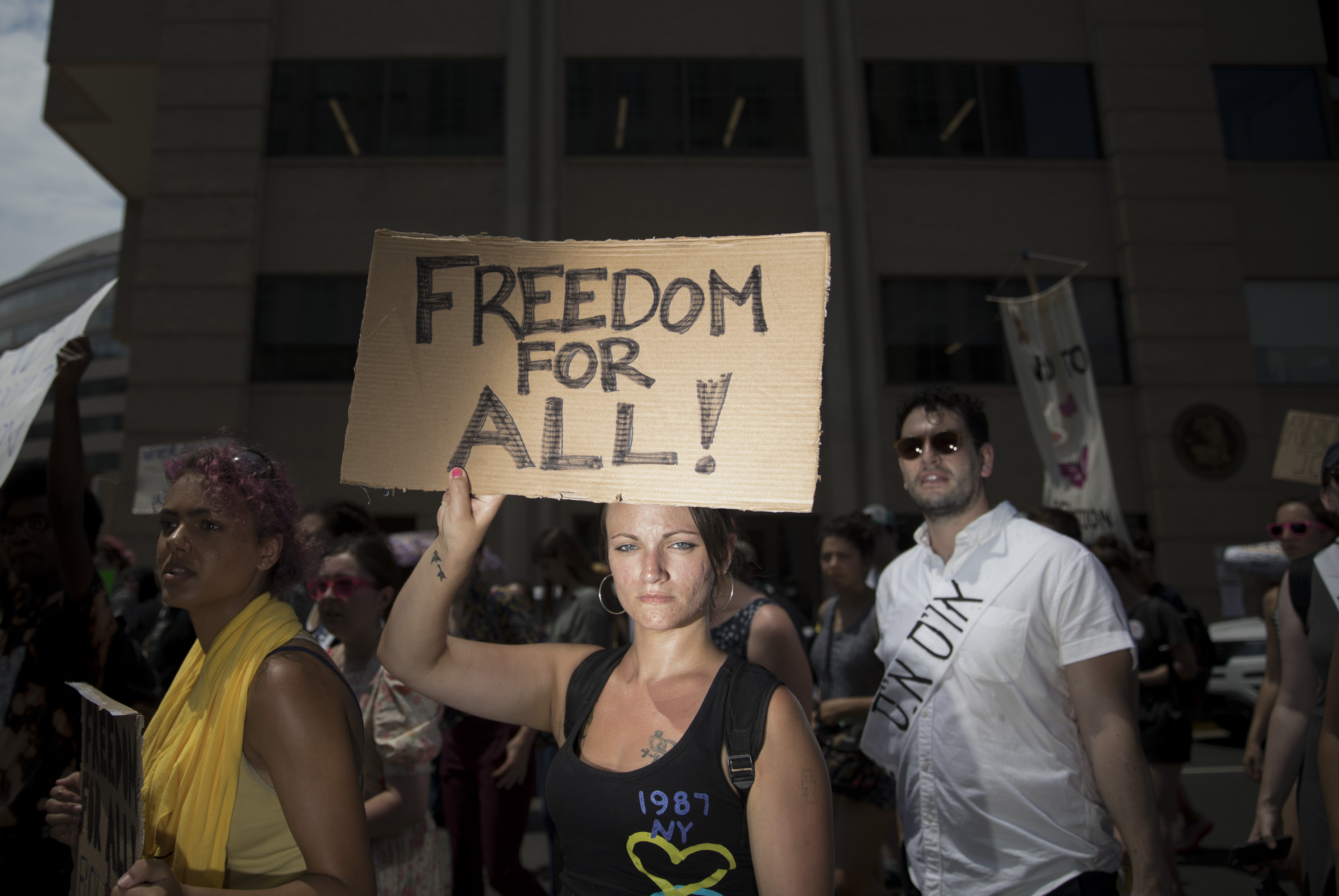 Immigrants And Allies 'Shut Down ICE' Offices In D C  | DCist