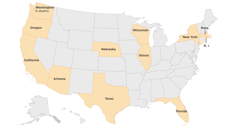 Which U S States Have Confirmed Coronavirus Cases Wamu