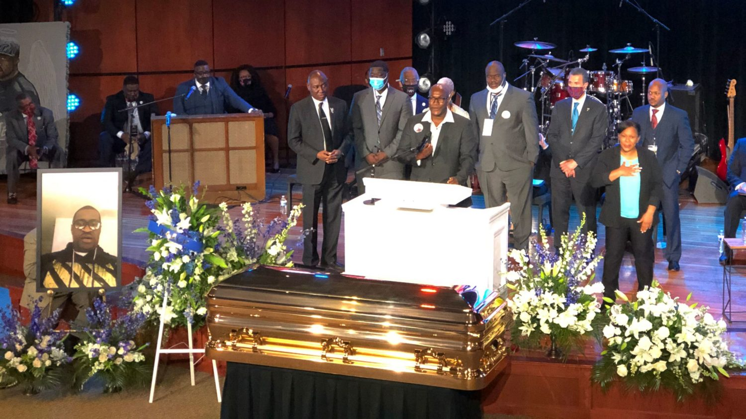 Hundreds Gathered At Memorial For George Floyd After Days Of Nationwide Protests Wamu