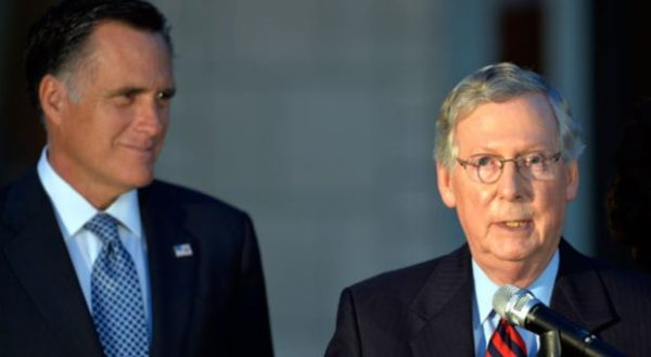 Image result for images of mitch mcconnell with romney